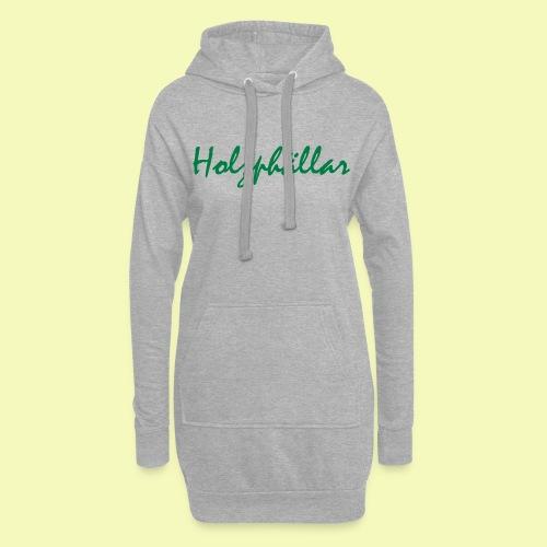 Schriftzug Grün - Hoodie-Kleid