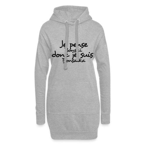 je_pense_donc_je_suis - Sweat-shirt à capuche long Femme