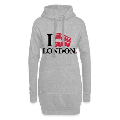 I love (Double-decker bus) London - Hoodie Dress