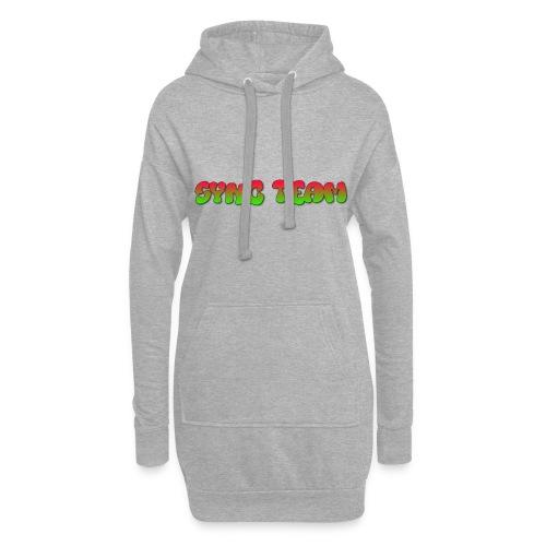 vêtement avec text SYNC TEAM - Sweat-shirt à capuche long Femme