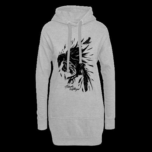 raven_tribal - Hoodie-Kleid
