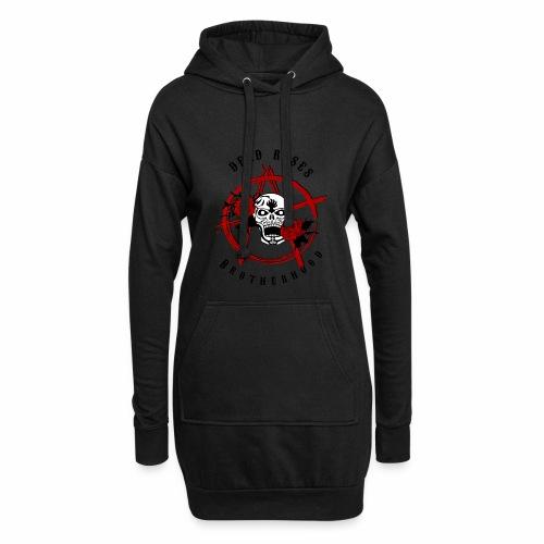 Dead Roses Anarchy Skull Black - Hoodie Dress