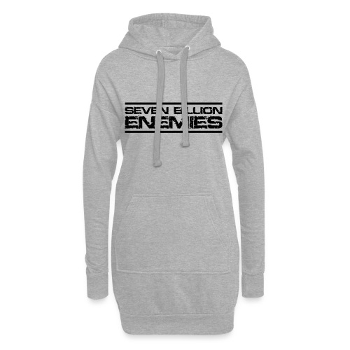Seven Billion Enemies - NOIR - Sweat-shirt à capuche long Femme