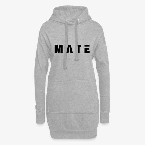 Mate-Schriftzug (breitgezogen) - Hoodie-Kleid