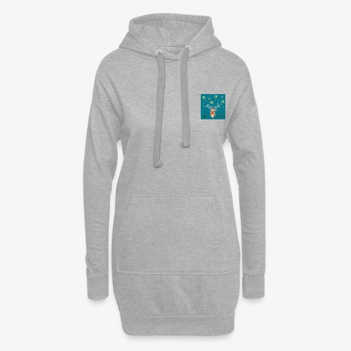little deer blue background - Hoodie Dress