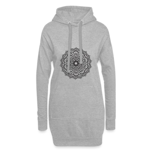 Mandala 3 - Sweat-shirt à capuche long Femme