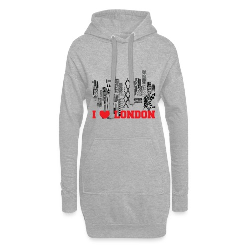 I LOVE LONDON SKYCRAPERS - Sudadera vestido con capucha