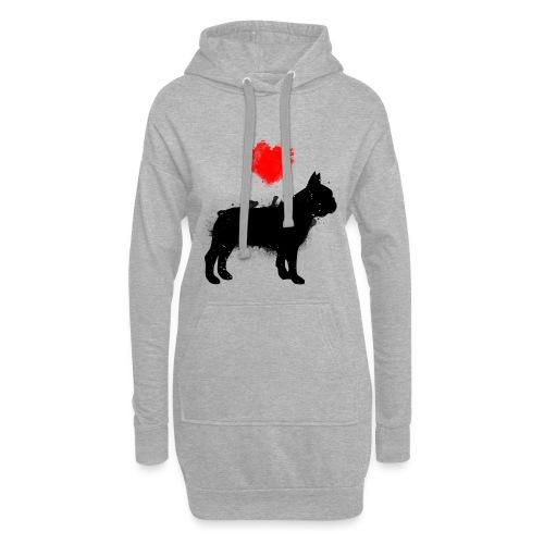 Französische Bulldogge Wunschname - Hoodie-Kleid