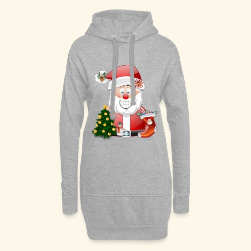 Father Christmas Scene 5 - Hoodie Dress