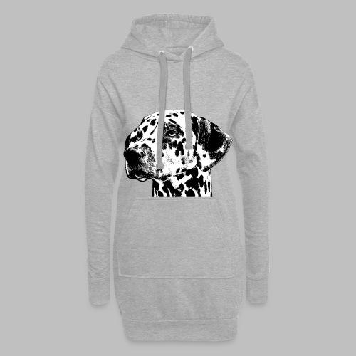 Dalmatiner Kopf Hund - Hoodie-Kleid