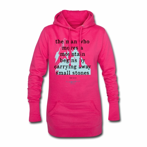 Confucius` Quote - The man who moves a mountain - Hoodie Dress