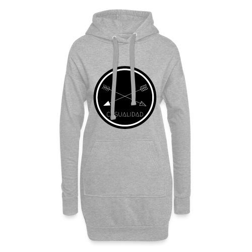 CASUALIDAD circular black logo - Vestitino con cappuccio
