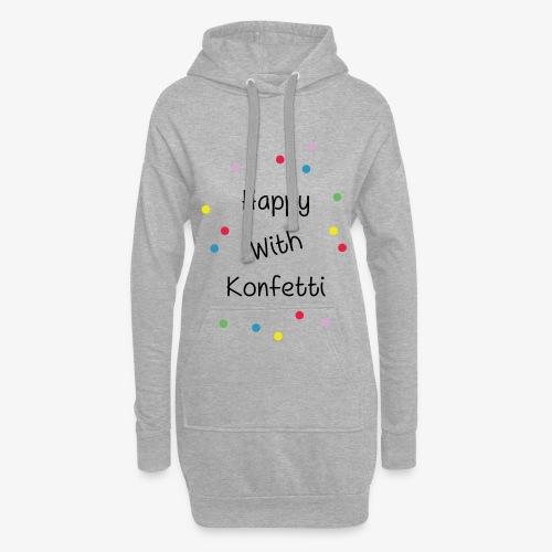 Happy With Konfetti - Hoodie-Kleid