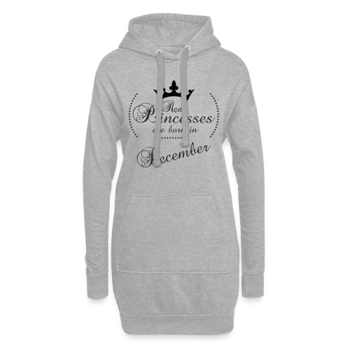 Real Princesses black December - Hoodie-Kleid