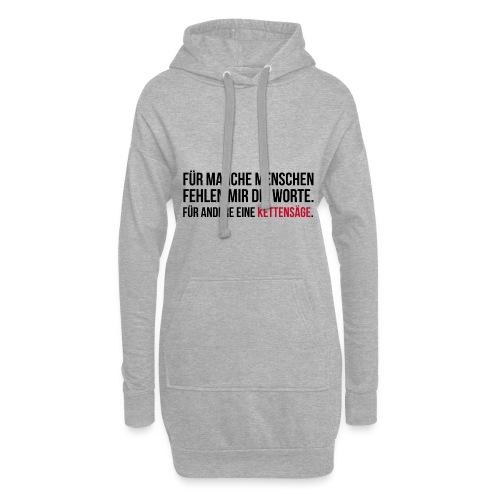 PSYCHO-Edition: Kettensäge Shirt fehlende Worte - Hoodie-Kleid