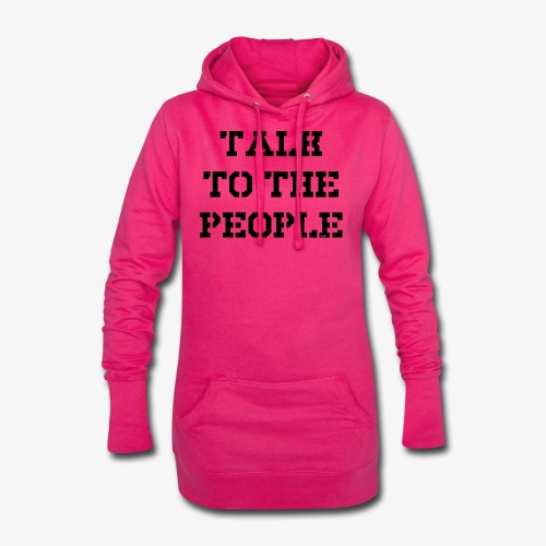 Talk to the people - schwarz - Hoodie-Kleid