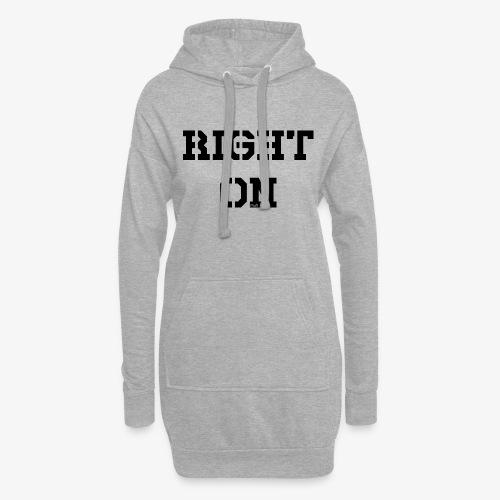 Right On - black - Hoodie-Kleid