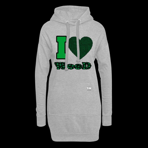 I Love weed - Sweat-shirt à capuche long Femme