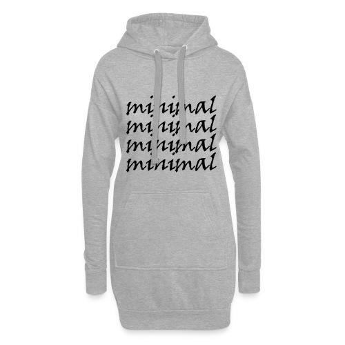 Minimal Design - Hoodie-Kleid