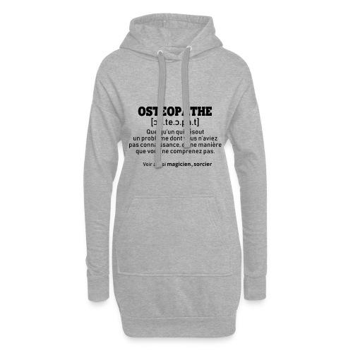 Définition OSTEOPATHE - Sweat-shirt à capuche long Femme