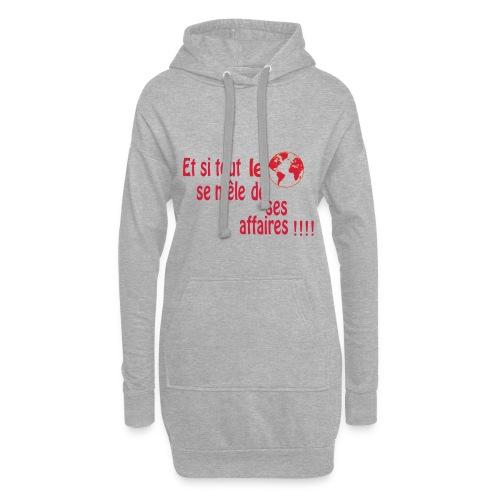 BNT création - Sweat-shirt à capuche long Femme