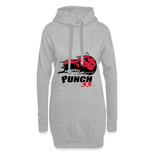 logo punch 33 - Sweat-shirt à capuche long Femme