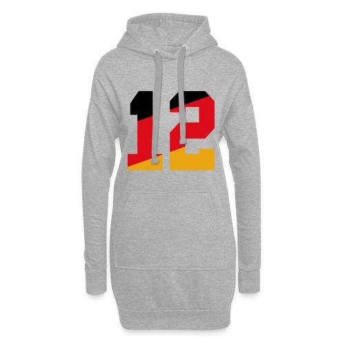 Fussball Nummern_12 - Hoodie-Kleid