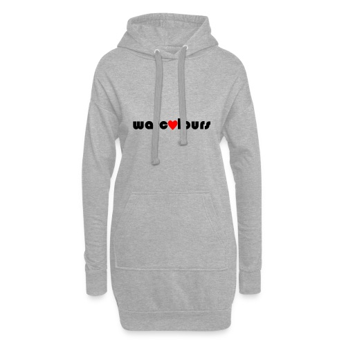 love warcolours black - Hoodie Dress