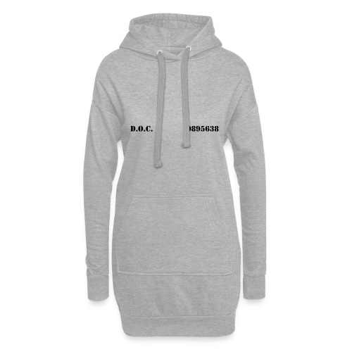 Department of Corrections (D.O.C.) 2 front - Hoodie-Kleid