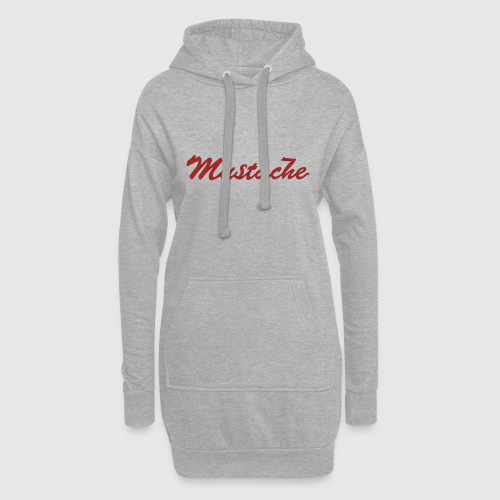 Red Mustache Lettering - Hoodie Dress