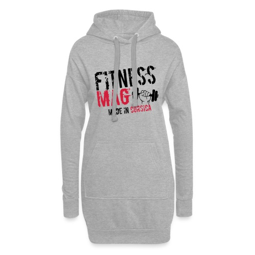 Fitness Mag made in corsica 100% Polyester - Sweat-shirt à capuche long Femme
