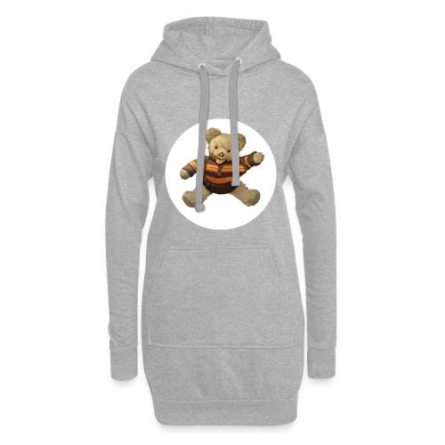 Teddybär - orange braun - Retro Vintage - Bär - Hoodie-Kleid