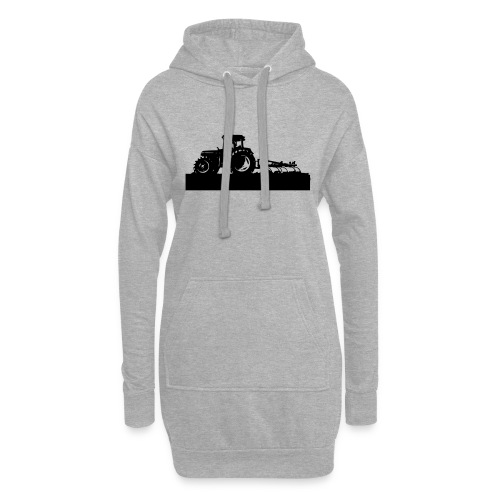 Tractor with cultivator - Hoodie Dress