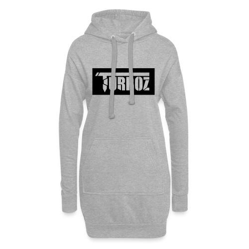Black Turboz Background - Hoodie Dress