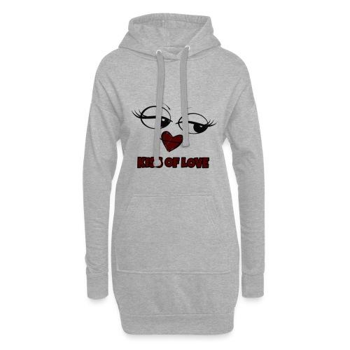 Kiss of Love - Sweat-shirt à capuche long Femme