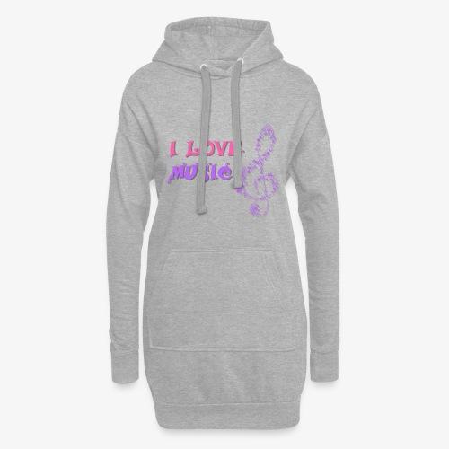 Love Music - Sudadera vestido con capucha