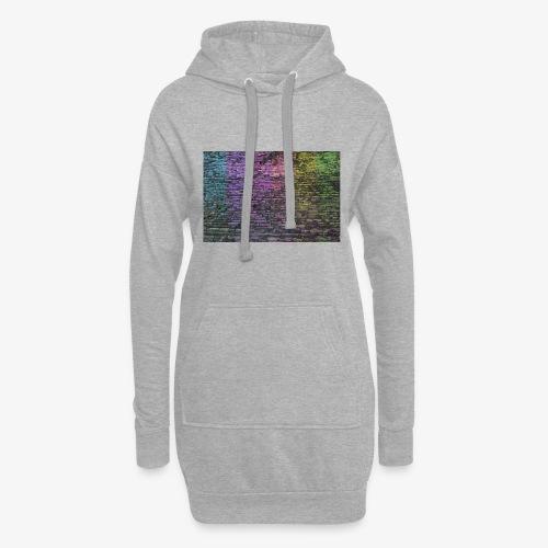 Regenbogenwand - Hoodie-Kleid