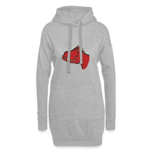 T Rex, Red Dragon - Hoodie Dress