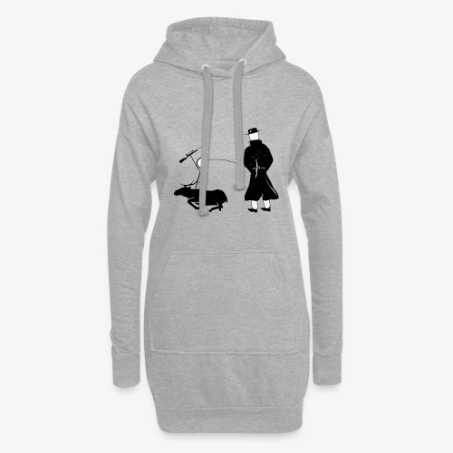 Pissing Man against hunting for wildlife - Hoodie-Kleid