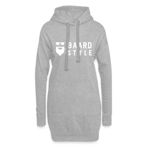 BaardStyle_1-white hoodie - Hoodiejurk