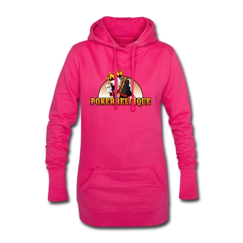 Logo Poker Belgique - Sweat-shirt à capuche long Femme