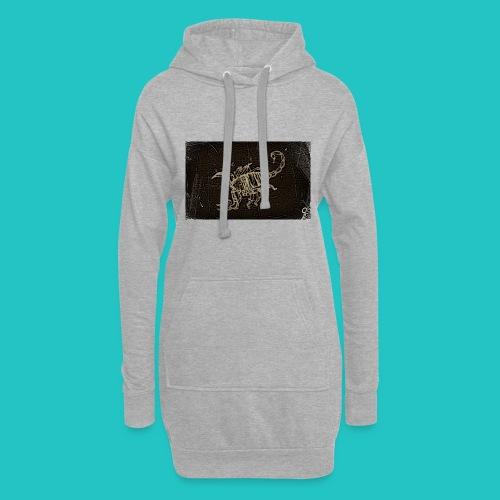 skorpion_grafika-jpg - Długa bluza z kapturem