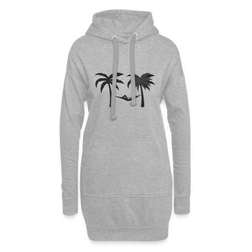 Hängematte mitzwischen Palmen - Hoodie-Kleid