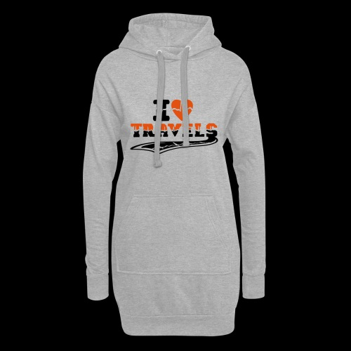 i love travels surprises 2 col - Hoodie Dress
