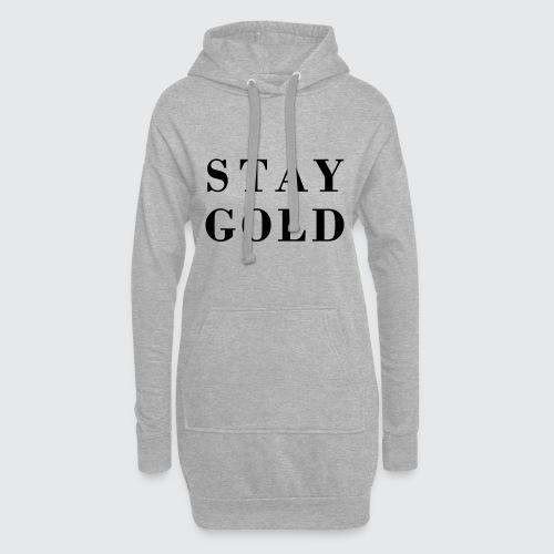 stay gold - Hoodie-Kleid