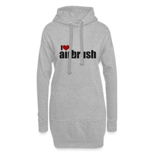I Love airbrush - Hoodie-Kleid