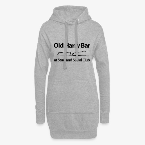 Old Harry Bar logo - black - Hoodie Dress