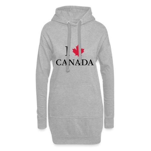 I love Canada Ahornblatt Kanada Vancouver Ottawa - Hoodie-Kleid