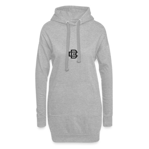Black Monogram Logo - Hoodie Dress