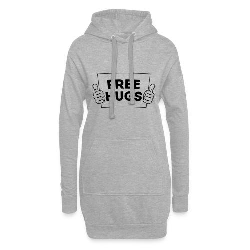 FREE HUGS! Daumen Hoch / Like Schild 1C - Hoodie-Kleid